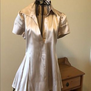 Champagne colored Silk blouse BCBG extra small